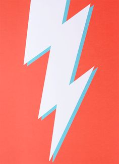 Power - A bolt from the blue, a flash of brilliance, or just a really nice print to hang on your wall? Lightning Bolt is a fantastic two colour screen print. Photo Wall Collage, Picture Wall, Lightning Bolt, Wall Prints, Cute Wallpapers, Really Cool Stuff, Screen Printing, Illustration Art, Artsy