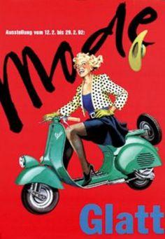 Vespa Mode Glatt ~ Wyler   #Scooters #Vespa #Wyler