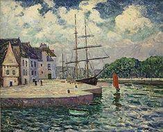 "Maxime Maufra (1861-1918) ~ ""Le Port de St-Goustan"" - Bretagne Morbihan"