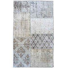 Better & Best 2731034 - Alfombra patchwork de 80 x 130 cm, color gris