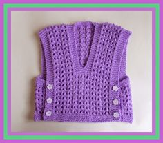 marianna's lazy daisy days: Melika Lacy Baby Vest Top with side buttons.  Really looks great... something different for a change.