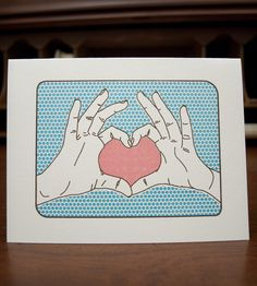Heart Hands Card by Smarty Pants Paper Co. on Scoutmob Shoppe. No words required. #valentines