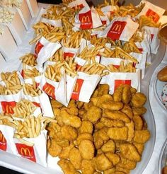 food Chicken Nuggets & French Fries Bring out at so guests can soak. - food Chicken Nuggets & French Fries Bring out at so guests can soak up alcoho… – S - I Love Food, Good Food, Yummy Food, Sleepover Food, Junk Food Snacks, Food Dinners, Tumblr Food, Food Goals, Aesthetic Food