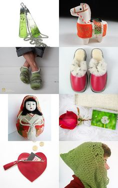 Christmas green and red gifts by Ella Saridi on Etsy--Pinned with TreasuryPin.com
