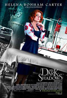 "Helena Bonham Carter as Dr. Julia Hoffman in Tim Burton's ""Dark Shadows"".... can't wait to see this... Huge T.Burton fan!"