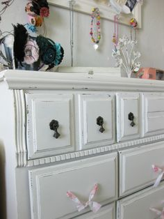 Fabric drawer pulls - sweet country cottage charm