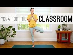 Yoga For The Classroom - Yoga With Adriene - YouTube short 10 minute practice, all standing.