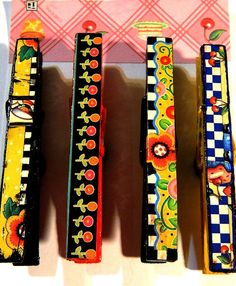 Clothespin Magnets  Mary Englebreit Home by TeriClothCreations, $10.00