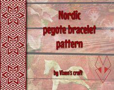 He encontrado este interesante anuncio de Etsy en https://www.etsy.com/es/listing/221084495/nordic-peyote-bracelet-pattern