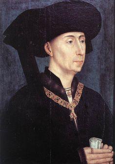 Rogier van der WEYDEN. Portrait of Philip the Good  after 1450  Oil on wood, 31 x 23 cm  Musée des Beaux-Arts, Dijon