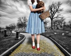 """""""Creepy Dorothy In The Wizard of Oz"""" by RubinoFineArt, 2014"""