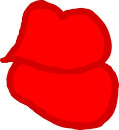 Kiss Me Lips Red by @doodleguy, Kiss me lips in red., on @openclipart