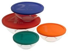 (*_*) Recipe Bakeware  Pyrex Smart Essentials 8-Piece Mixing Bowl Set