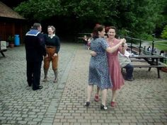 Delightful vintage 1940's Jive dancing somewhere's over there, and you can't hear a single Stuka B17 or Spitfire in the background. Must have been a quiet day.