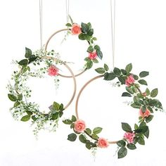 ling's moment Summer Greenery Wedding Handcrafted Vine Wreaths Set of Christmas Decor Rustic Wedding Backdrop, Artificial Roses Plant Flower Garland, Woodland Wedding decoration Floral Hoop Flower Garland Wedding, Floral Garland, Flower Garlands, Wedding Wreaths, Handmade Wedding Decorations, Rustic Wedding Backdrops, Wedding Reception, Vine Wreath, Rose Vines