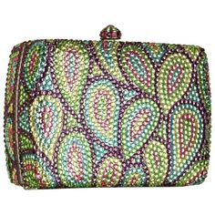Forzieri Multicolor Crystal Jeweled Evening Hard Clutch w/Chain Strap .. forzieri.com