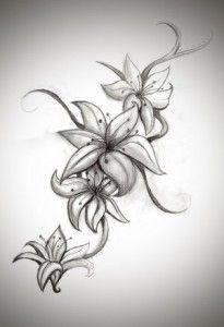 Tattoo, flowers.
