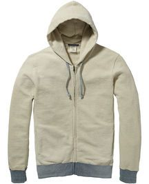 Zip through hooded sweater | Sweat | Men's Clothing at Scotch & Soda