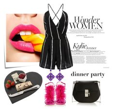 """Dinner party"" by eiliana ❤ liked on Polyvore featuring Post-It, Manolo Blahnik, Chloé and Just Slate Company"