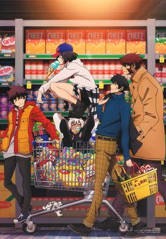Blood Blockade Battlefront - I love that their cart is literally full of candy. Fanarts Anime, Anime Characters, Manga Anime, Anime Art, Me Me Me Anime, Anime Love, Tokyo Ghoul, Leonardo Watch, Wallaper Iphone