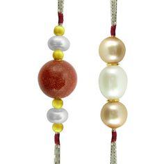 Jpearls Combo Of 2 Pearl Rakhis #rakshabandhan #jewellery #rakhigifts #rakhis #brother