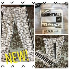 """NEW! ADIDAS SPORT ESSENTIAL SKINNY ATHLETIC PANTS These are brand new Adidas Sport Essential skinny athletic pants. 61% cotton, 33%poly & 6% spandex for an awful lot of stretch! The inseam is 26"""". Adidas Pants Skinny"""