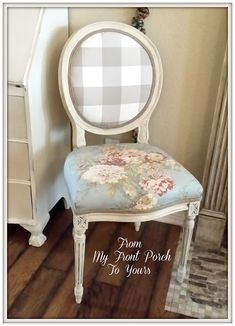 From My Front Porch To Yours: Outdated French Dining Chair Makeover With Chalk…