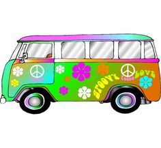 Hippie Retro, VW Bus Photo Op / Groovy Photo Op