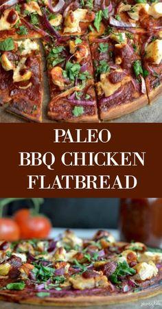 Paleo BBQ Chicken Flatbread - Savory Lotus (gluten free)