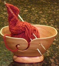Scroll Saw Bowls: The yarn bowl--final version