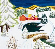Night Snow by Nova Scotia folk artist Maud Lewis 1903-1970