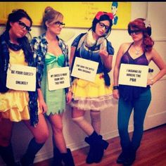 Pin for Later: Ghouls Gone Wild! 60 Creative Girlfriend Group Costumes Hipster Disney Princesses