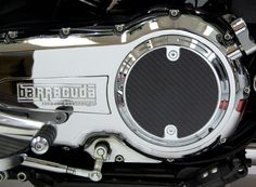 Slotted Style Chrome Carbon Fiber Derby Cover for Victory Motorcycle Freedom Engines