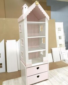 Buy House-rack high with drawers – cookie … - Diy Möbel Girl Room, Girls Bedroom, Bedroom Decor, Doll House Plans, Barbie House, Home And Deco, Wood Toys, Baby Decor, Play Houses
