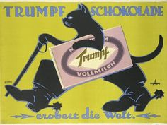 vintage chocolate ads and poster design | 20 Interesting Vintage Candy Ads