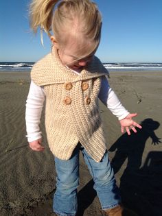 This is an easy crochet pattern that will provide a chic, yet practical vest. The oversize collar falls over the shoulders for added warmth, or can