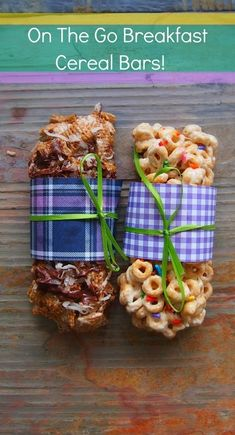 homemade cereal bar we might have to try these