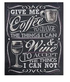 Gift Craft Give Me Coffee Wall Sign Chalkboard