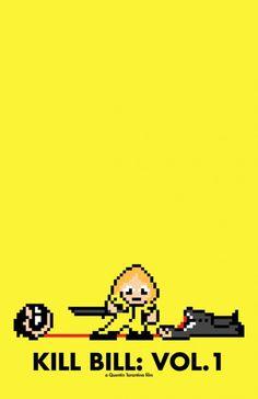 8-Bit Movie Poster by Eric Palmer, Ooooo a perler version of kill bill would be fun