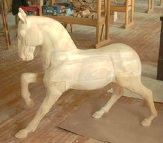 Aramis: an exclusive, wooden royal stallion by Rocking Horse & Art Design