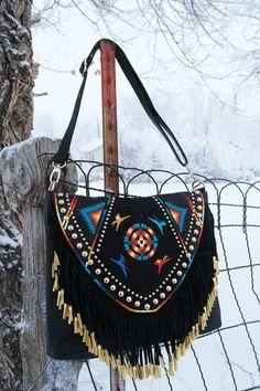 Rez Hoofz Hand Painted Purse two way to wear purse by REZHOOFZ, $146.95
