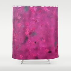 Pink Flying Kites Shower Curtain by Celeste Sheffey of Khoncepts $68.00 #homedecor #pinkbathroom #curtains