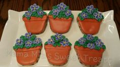 Potted flower cookies. Oh so cute!!!