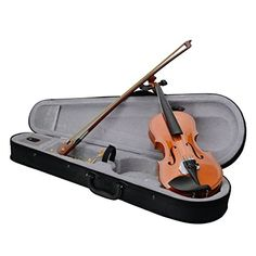 Soogo 18 Acoustic Solid Wood Violin  Case  Bow  Rosin  Strings  Shoulder Rest  Tuner for Age 46 -- You can get more details by clicking on the image.(It is Amazon affiliate link) #cat