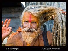 A Hindu Sadhu ( holy man ) Face
