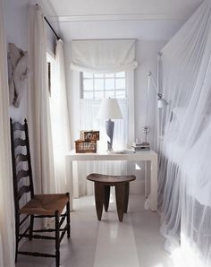 decorology: Oh so glamorous and elegant interiors in white, bedroom, black and white