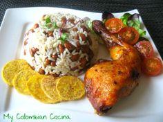 Pollo Asado con Arroz Caribeño or Roast Chicken with Caribbean Rice
