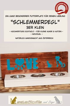 """""""Schlemmer-Degl"""" aus Holz - Selectcats and Dogs Petshop Home Decor, Pets, Glee, Stainless Steel, Cats, Timber Wood, Decoration Home, Room Decor, Home Interior Design"""