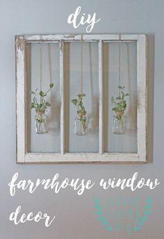 Farmhouse window decor