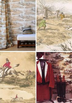English sporting wallpaper. Lewis & Wood wallpapers from UK. These papers are UK and Northern US  & New England  Old Money style. by Sterin, via Flickr